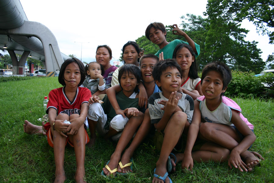 Happy group of street children - street children photos